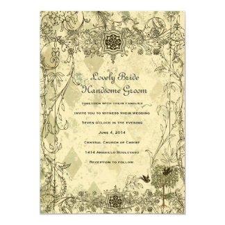 Convite italiano do casamento do Verdigris do