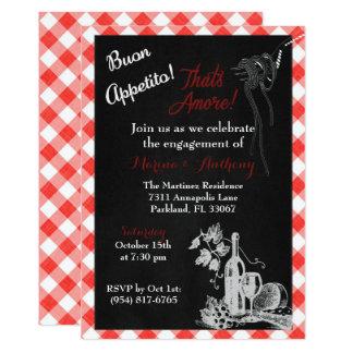 Convite italiano do noivado