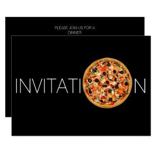 Convite italiano personalizado da pizza do