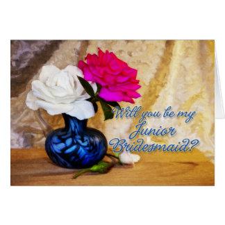 Convite júnior da festa de casamento da dama de