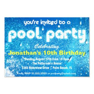 Convite legal da festa na piscina