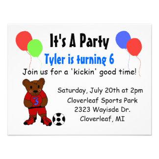 Convite legal do aniversário do futebol