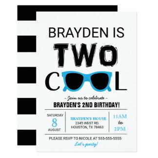 Convite legal do aniversário do menino dois