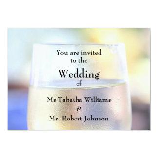 Convite legal do casamento do impressão do vidro