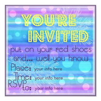 Convite legal do dance party dos pontos