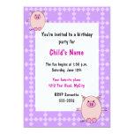 Convite leitão do aniversário das crianças