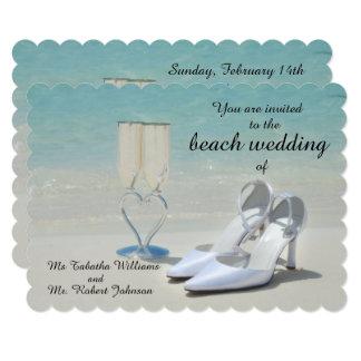 Convite lindo do casamento de praia