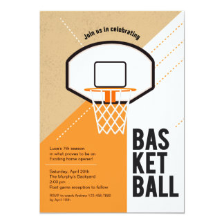 Convite líquido do basquetebol