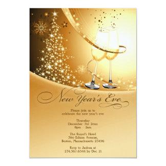 Convite liso da celebração da véspera de Ano Novo