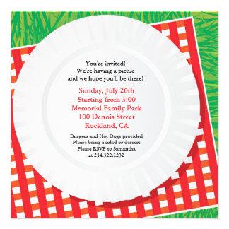 Convite liso do partido da excursão do piquenique