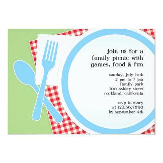 Convite liso do partido da excursão do piquenique convite 12.7 x 17.78cm