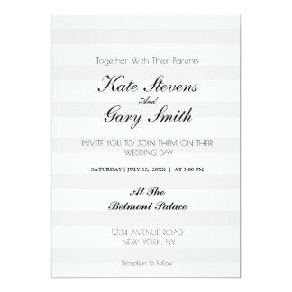 Convite listrado do casamento do monograma