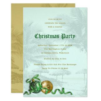 Convite litoral das palmeiras da festa de Natal