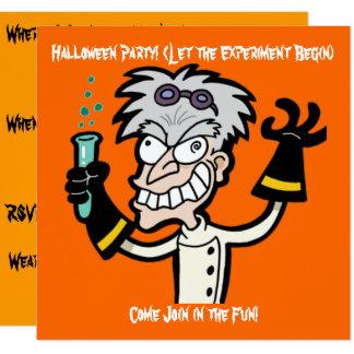 Convite louco do Dia das Bruxas do gênio