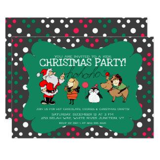 Convite lunático da festa de Natal dos miúdos