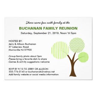 Convite lunático da reunião de família da árvore