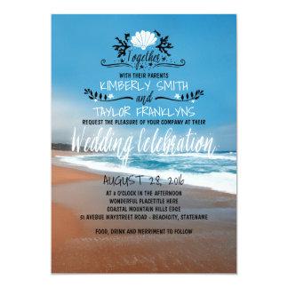Convite lunático do casamento de praia