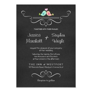Convite lunático do casamento do conselho de giz
