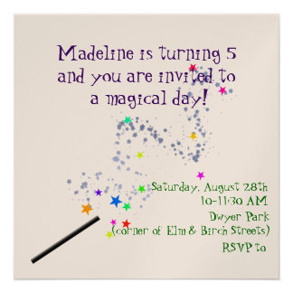 Convite mágico 2 do aniversário