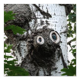 Convite mágico da fotografia da cara da árvore da