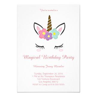Convite mágico do aniversário do unicórnio