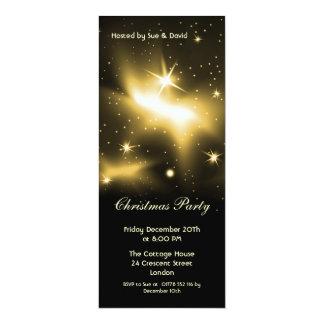 Convite magro com estrelas do ouro