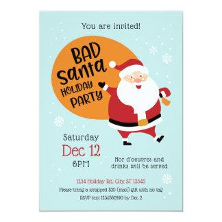 Convite mau da festa natalícia do papai noel
