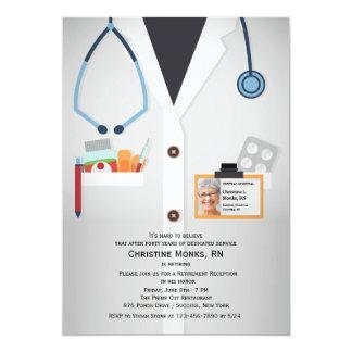 Convite médico da aposentadoria da foto dos convite 12.7 x 17.78cm