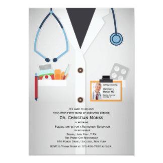 Convite médico da aposentadoria da foto dos