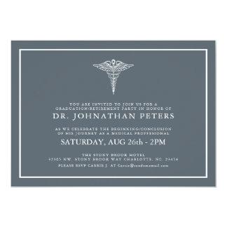 Convite médico mínimo de Graduation|Retirement