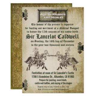 Convite medieval do casamento do aniversário do