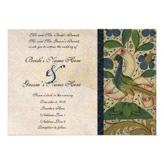 Convite medieval do casamento do pergaminho do fai