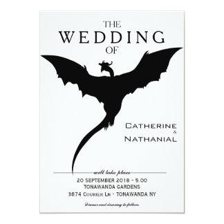 Convite medieval mínimo moderno do casamento do