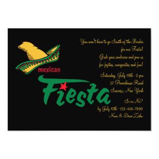Convite mexicano da festa