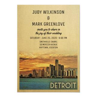 Convite Michigan do casamento de Detroit