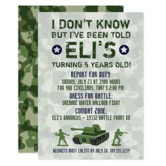 Convite militar do aniversário do exército