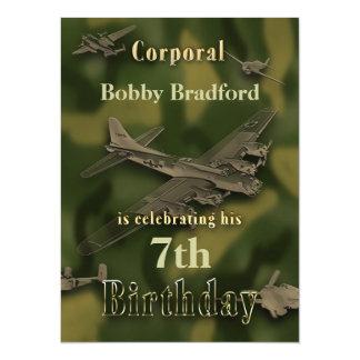 Convite militar do aniversário dos meninos - Camo