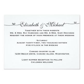 Convite minimalista simples do casamento