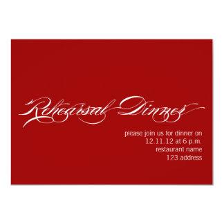 Convite moderno branco vermelho do jantar de