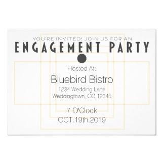 Convite moderno da festa de noivado do casamento
