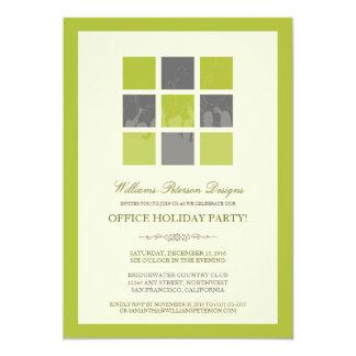 Convite moderno da festa natalícia do escritório