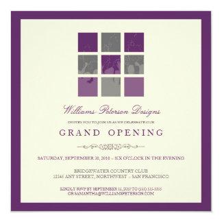 Convite moderno da grande inauguração dos blocos