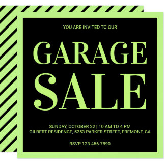 Convite moderno da venda de garagem