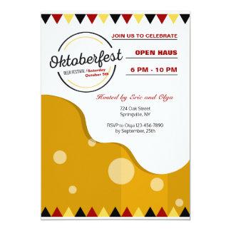 Convite moderno de Oktoberfest