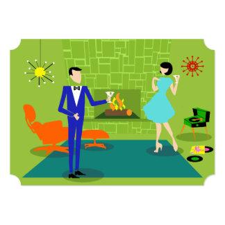 Convite moderno do casal do meio século convite 12.7 x 17.78cm