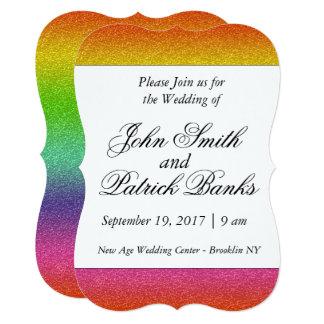 Convite moderno do casamento da textura do brilho