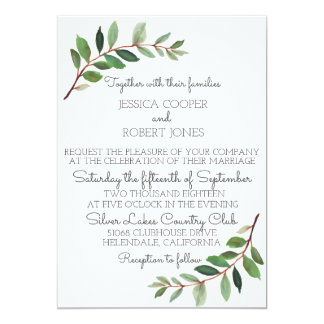 Convite moderno do casamento do jardim botânico