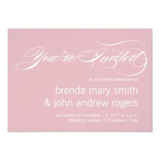 Convite moderno do casamento do roteiro simples