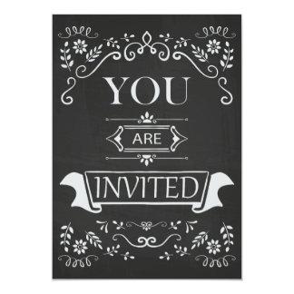 Convite moderno do Flourish do quadro