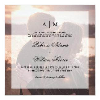 Convite moderno | do quadrado da foto do casamento